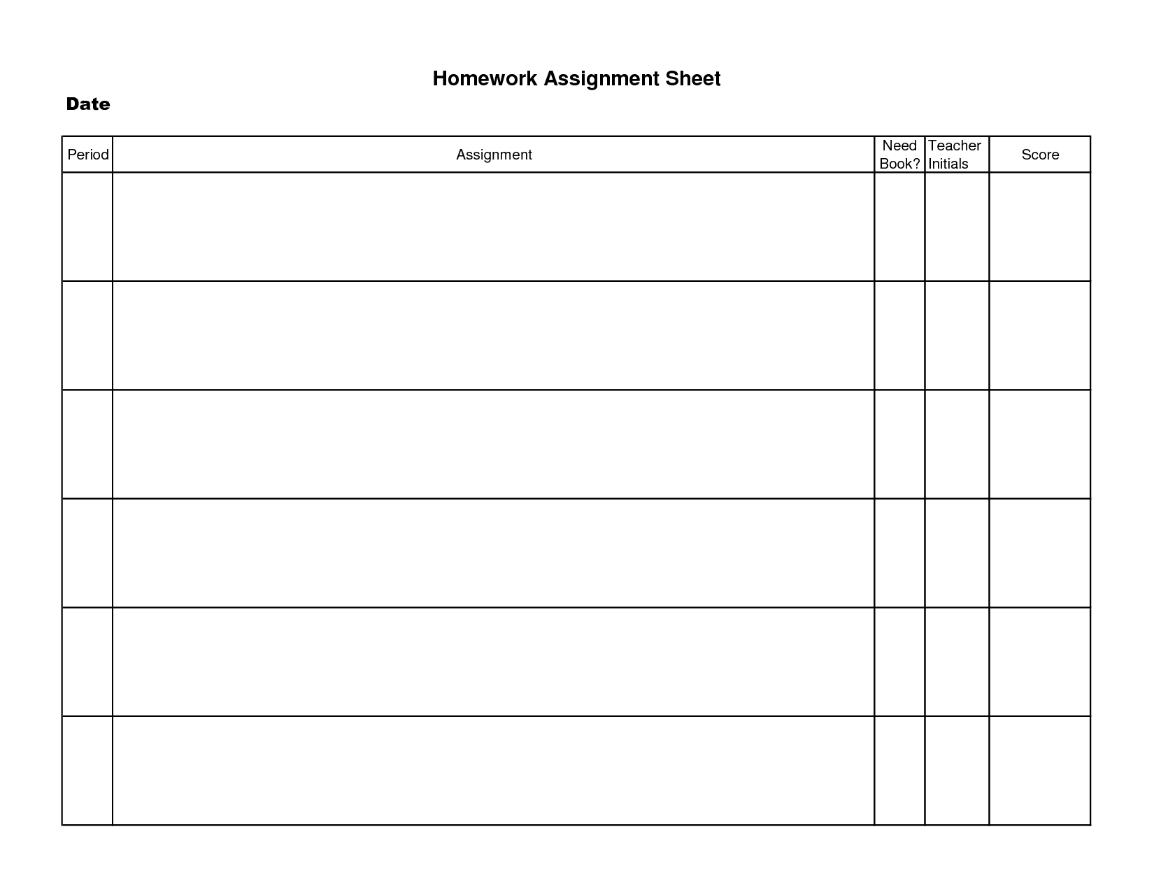 15 Best Images Of Free Homework Worksheets