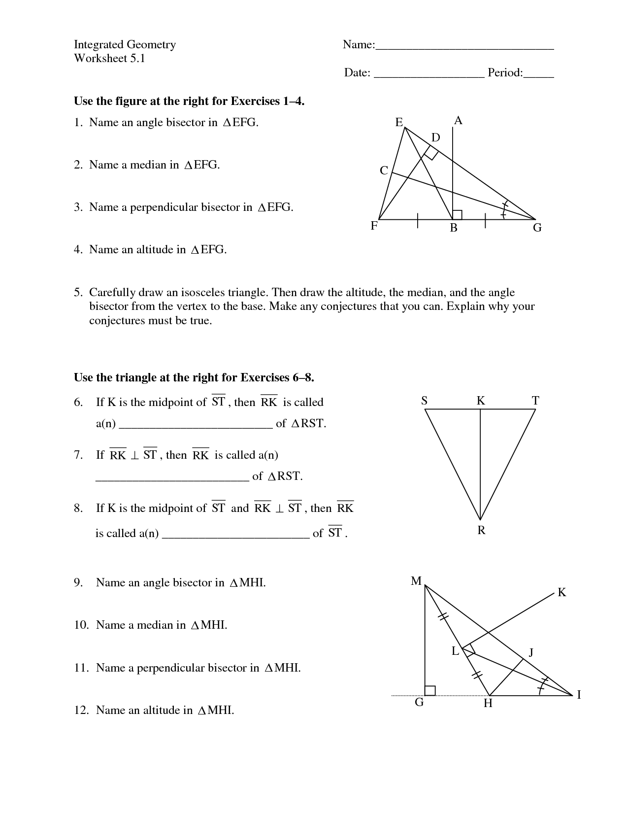 7 Best Images Of Angle Measures In Triangles Worksheets