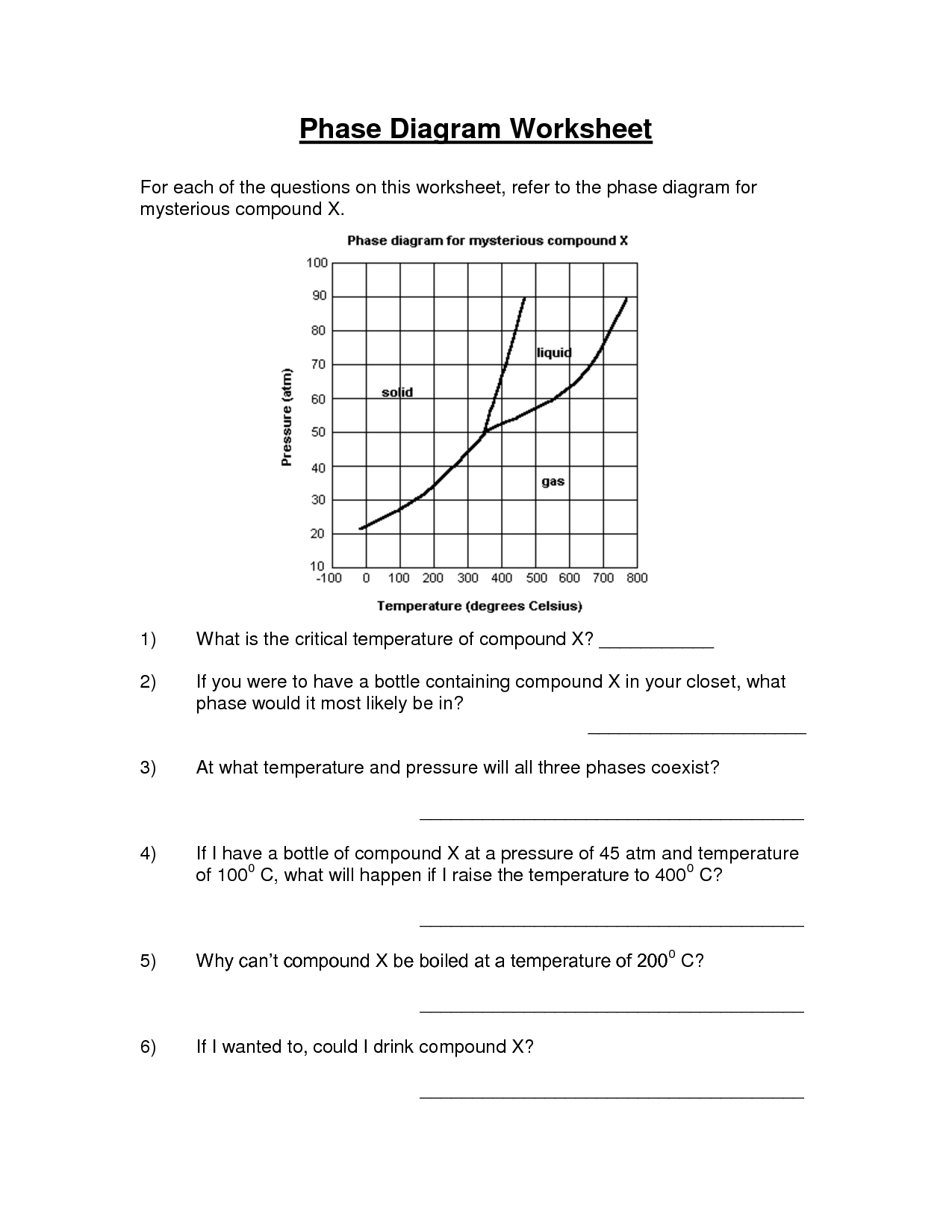 15 Best Images Of Phase Change Worksheet Answers