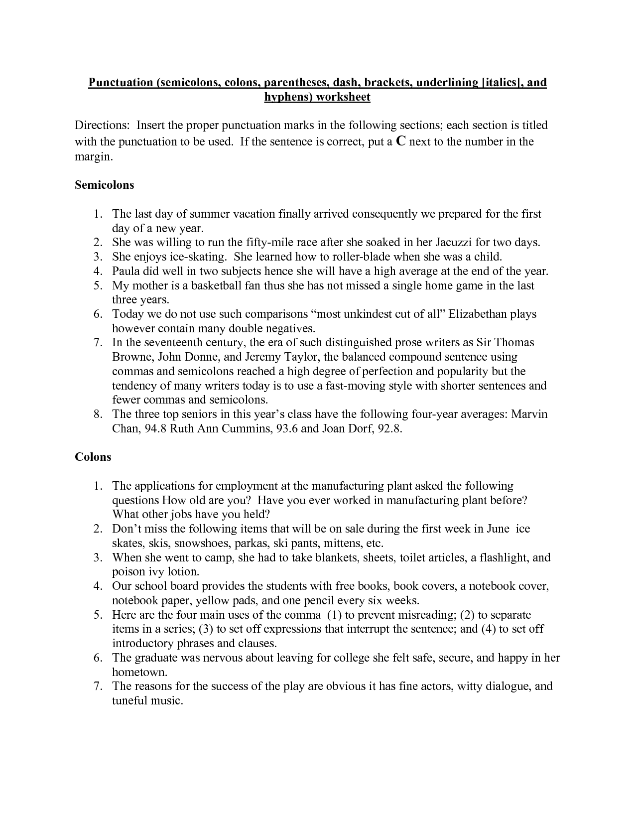 14 Best Images Of Quotation Marks Worksheet 1