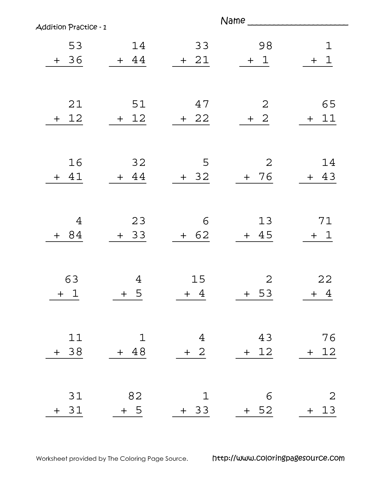 9 Best Images Of First Grade Math Homework Worksheets