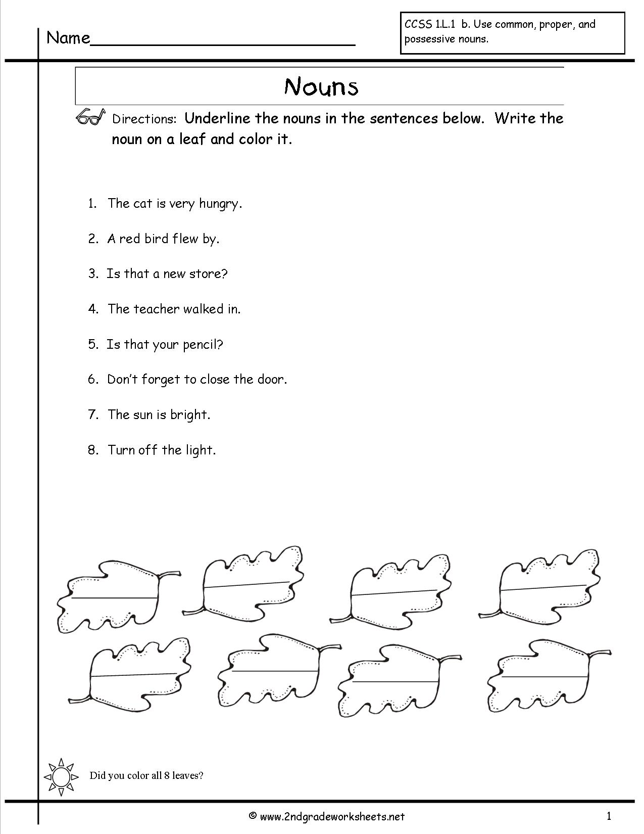19 Best Images Of Proper Noun Worksheets Grade 1