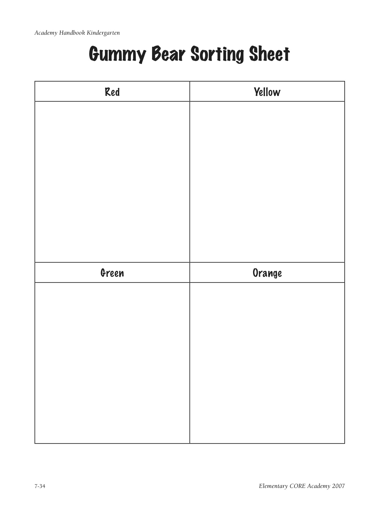 12 Best Images Of Counting Bears Worksheet