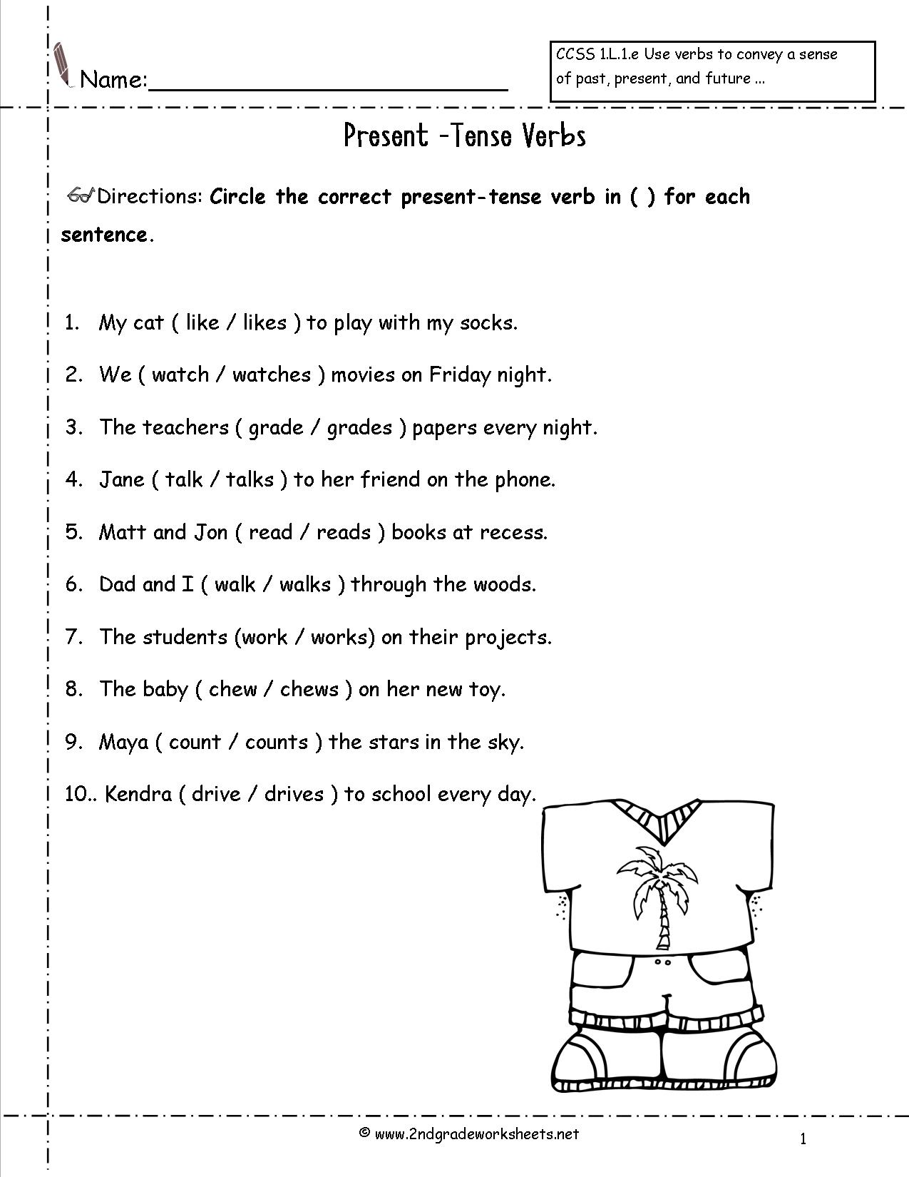 11 Best Images Of Choose The Correct Verb Worksheet