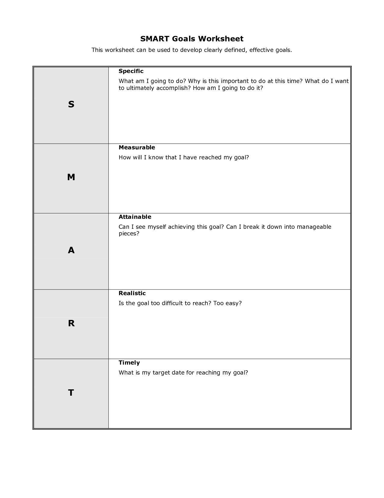 17 Best Images Of School Goals Worksheet