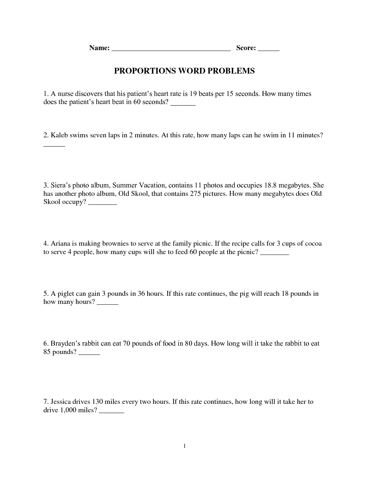 14 Best Images Of Unit Rate Worksheets 6th Grade