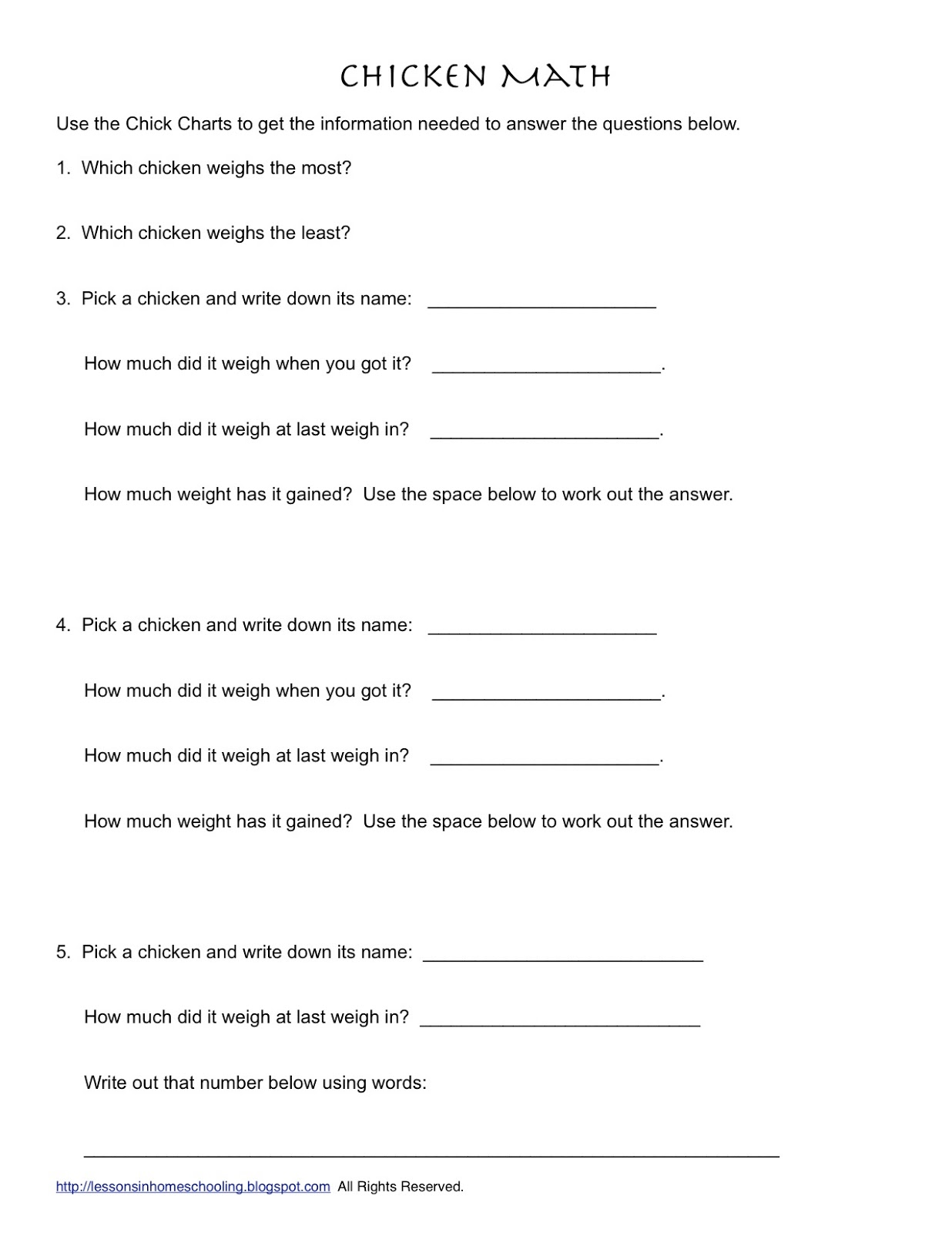 13 Best Images Of Cooking Lesson Worksheets