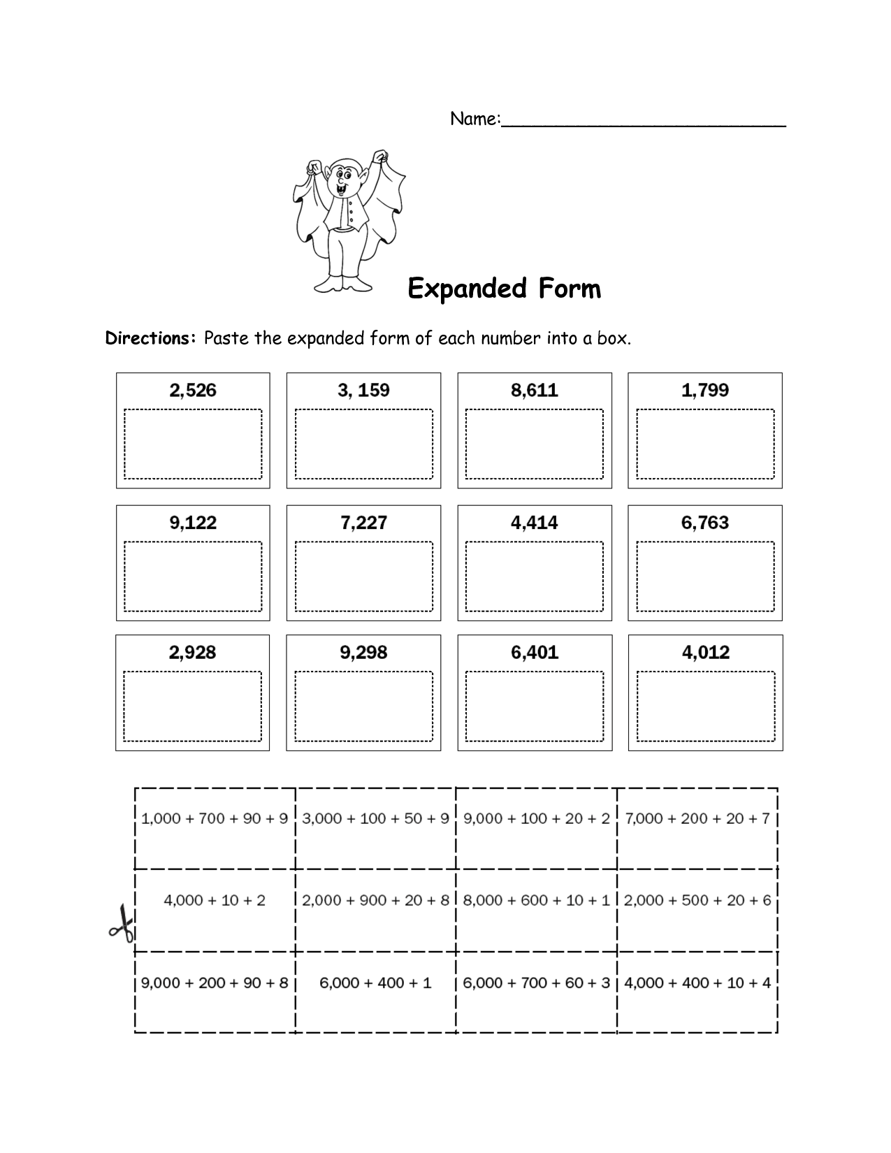 19 Best Images Of Expanded Form Worksheets For First Grade