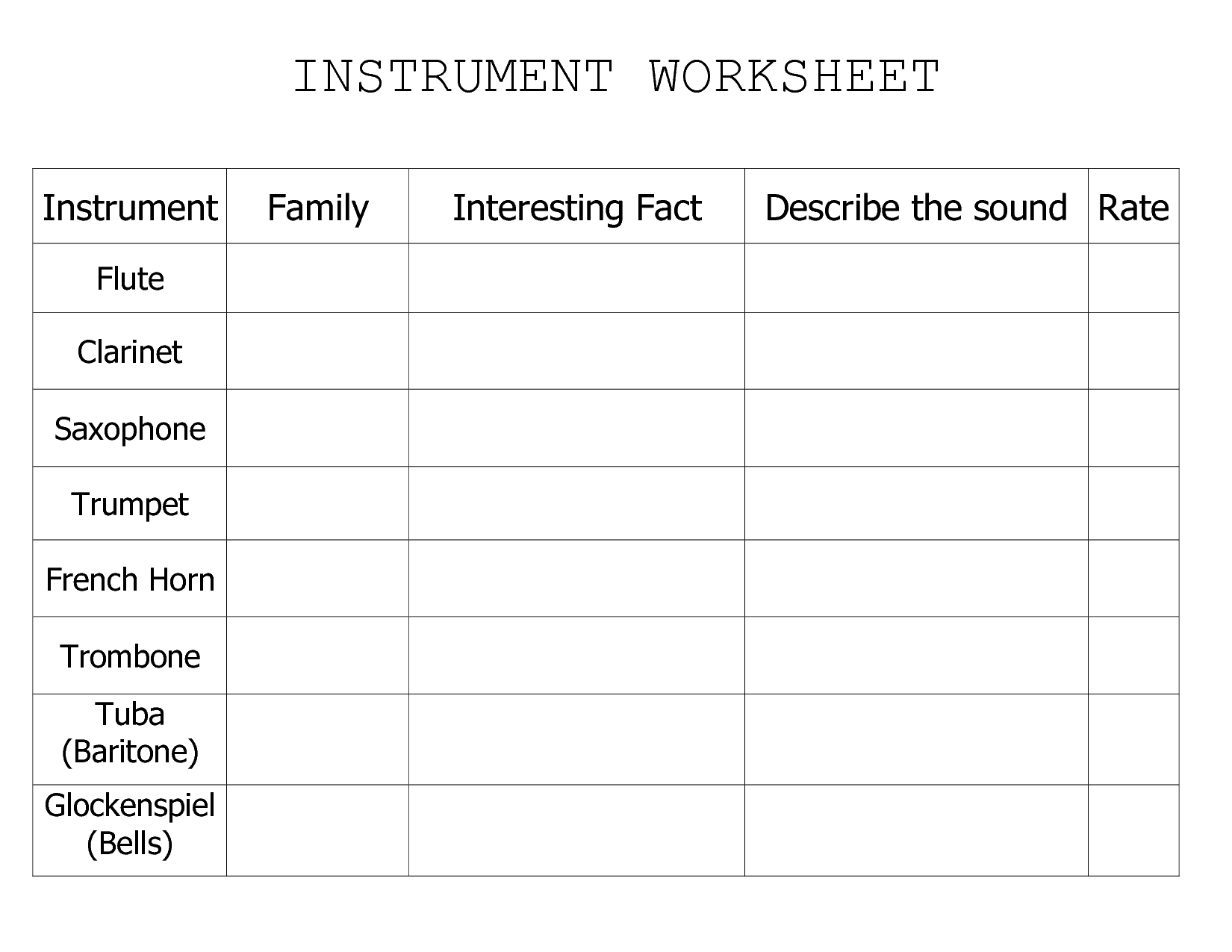 11 Best Images Of Weather Instruments Worksheets Anwers