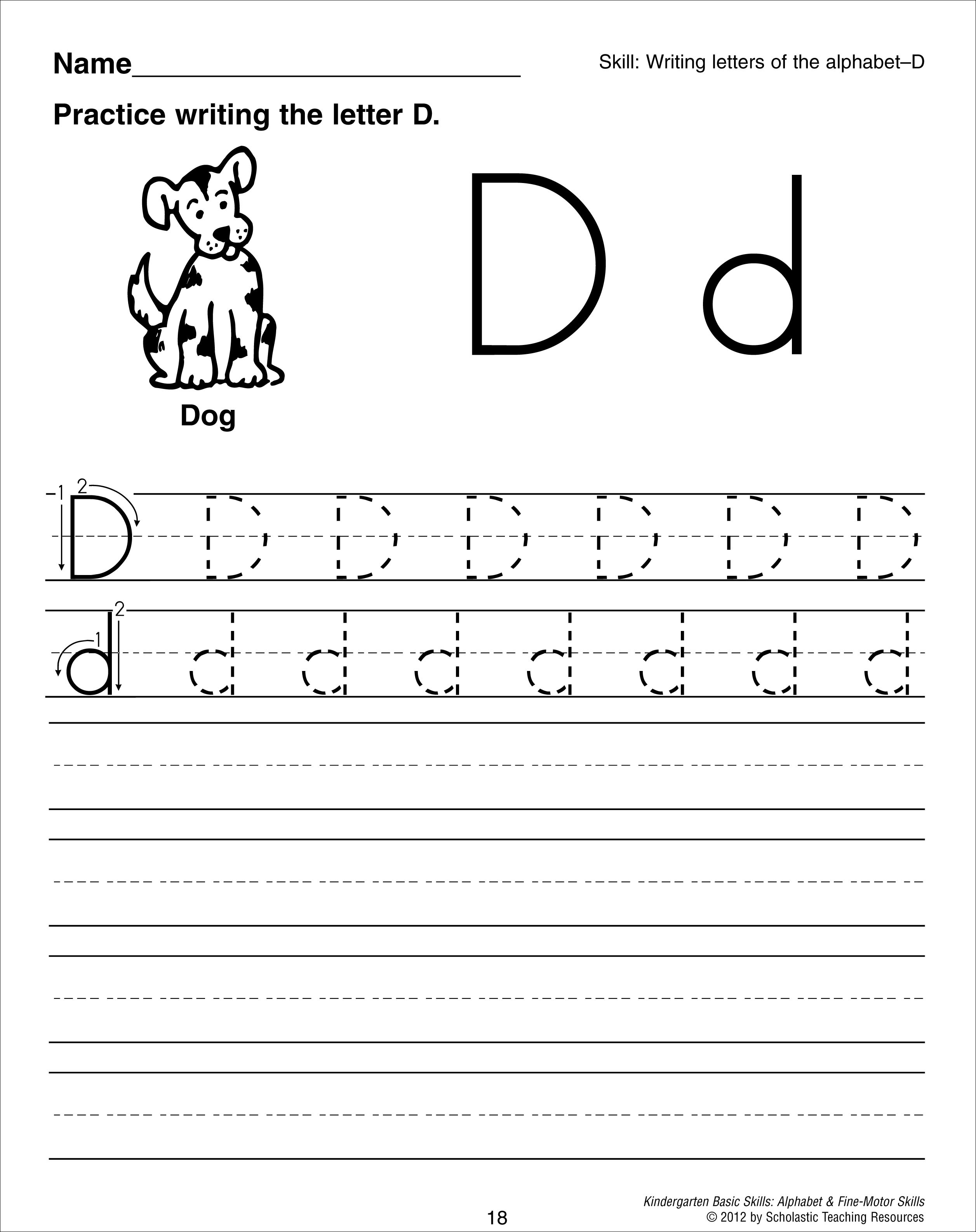14 Best Images Of Lowercase D Worksheets For Preschool