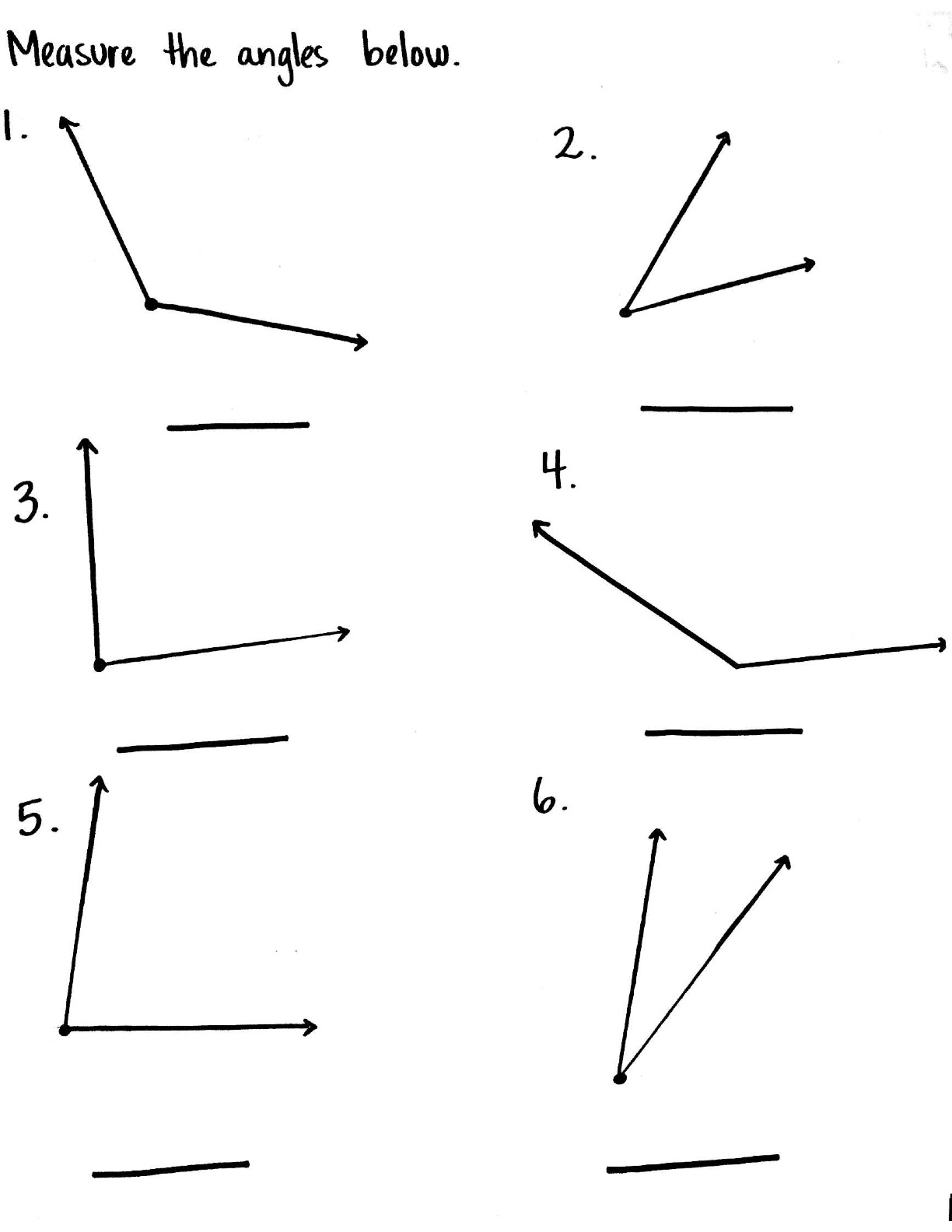 12 Best Images Of Angle Worksheets 4th Grade