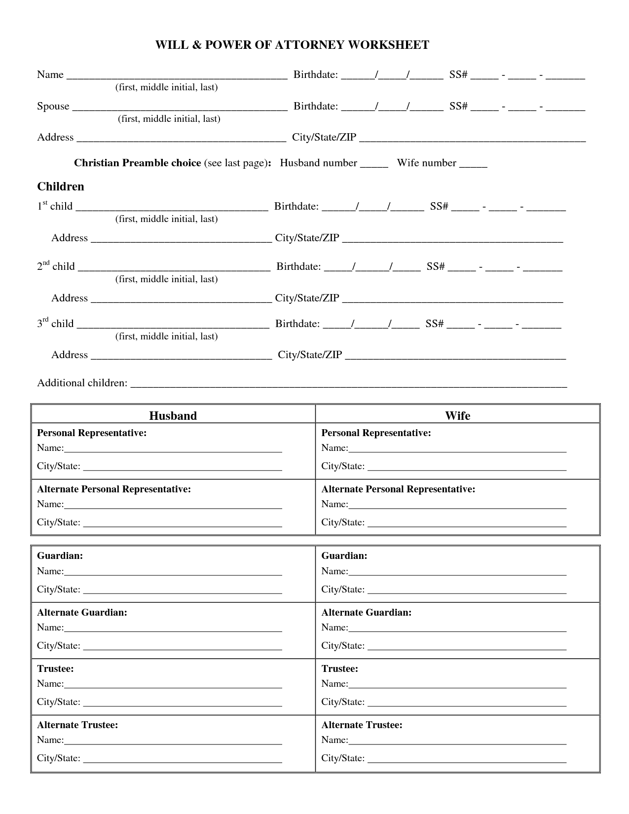 15 Best Images Of Amendments Matching Worksheet Answers