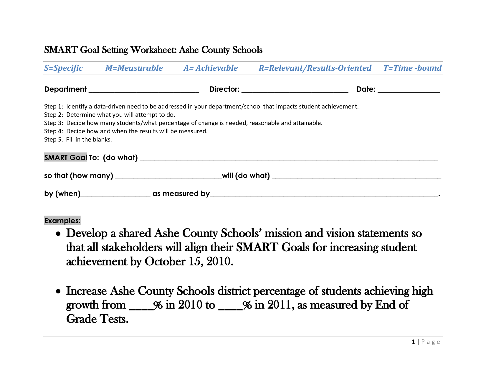Free Worksheet High School Goal Setting Worksheet – Student Goal Setting Worksheet