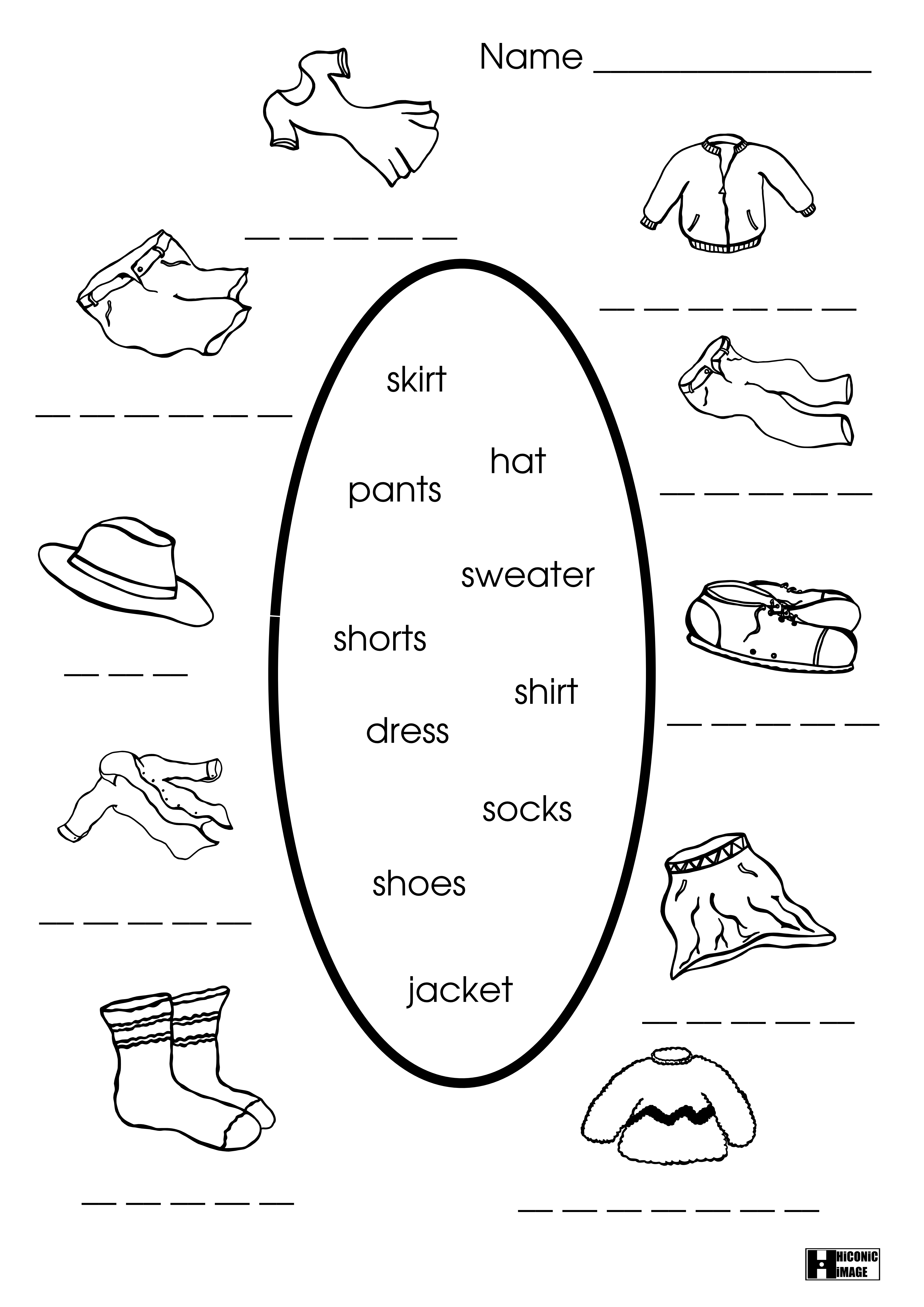 12 Best Images Of Esl Clothing Worksheet
