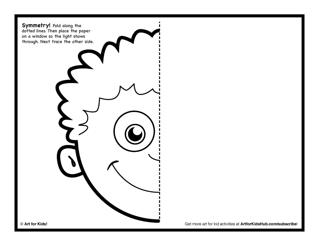 11 Best Images Of Drawing Symmetry Worksheets