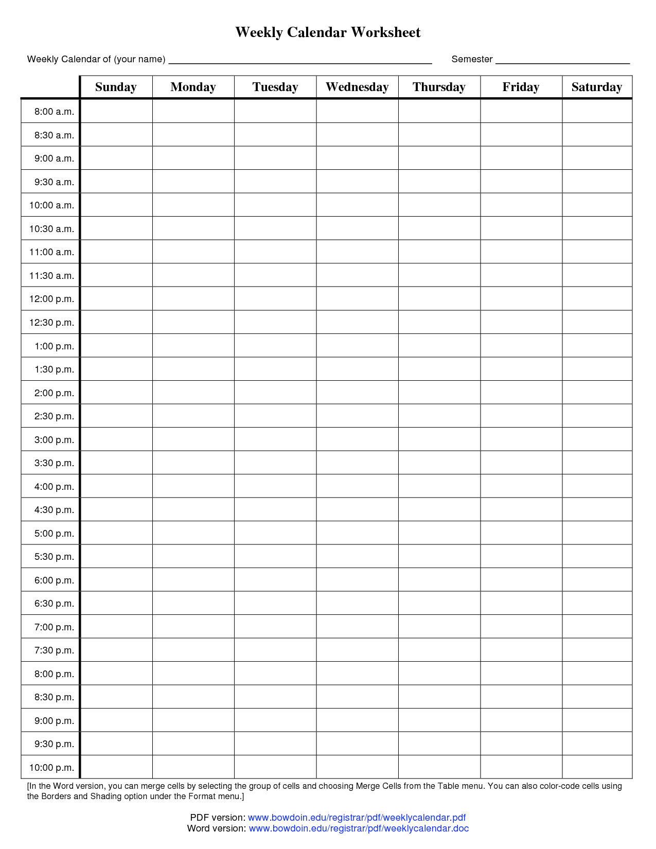 12 Best Images Of Printable Calendar Worksheets