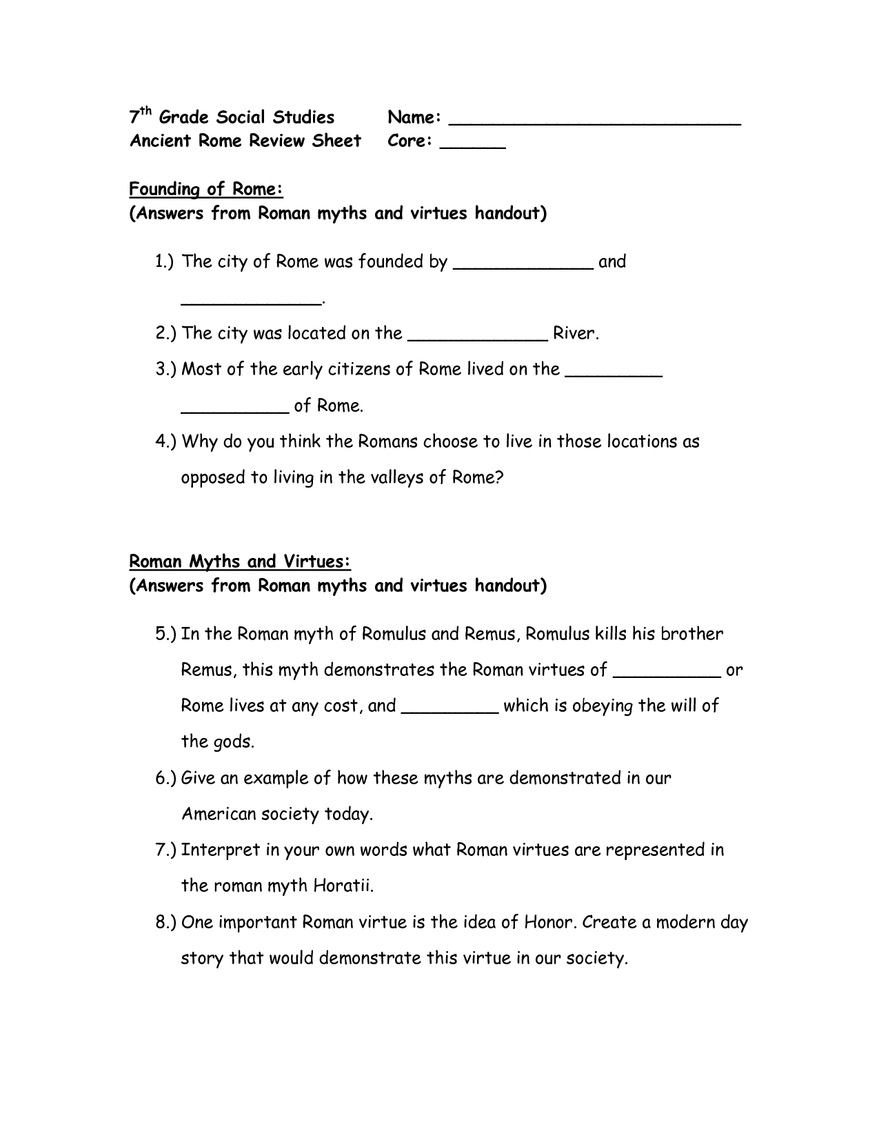 18 Best Images Of 7th Social Stu S Worksheets Printable