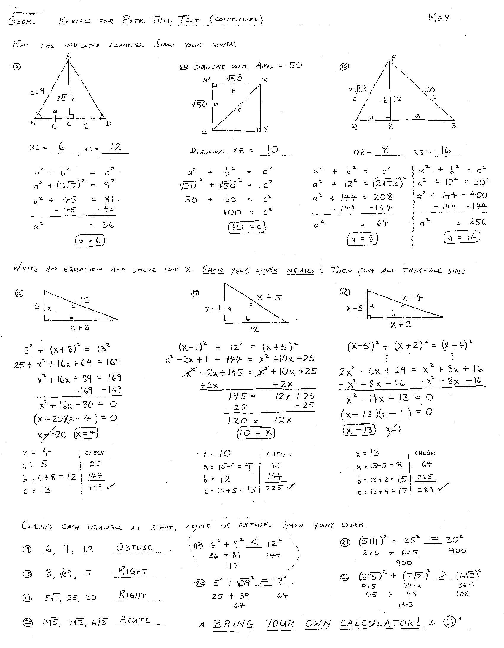 13 Best Images Of Practice Geometry Worksheet Answer Key