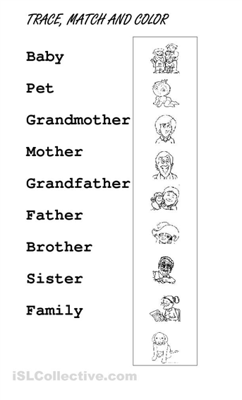 Image Result For Worksheets For Kindergarten On My Family