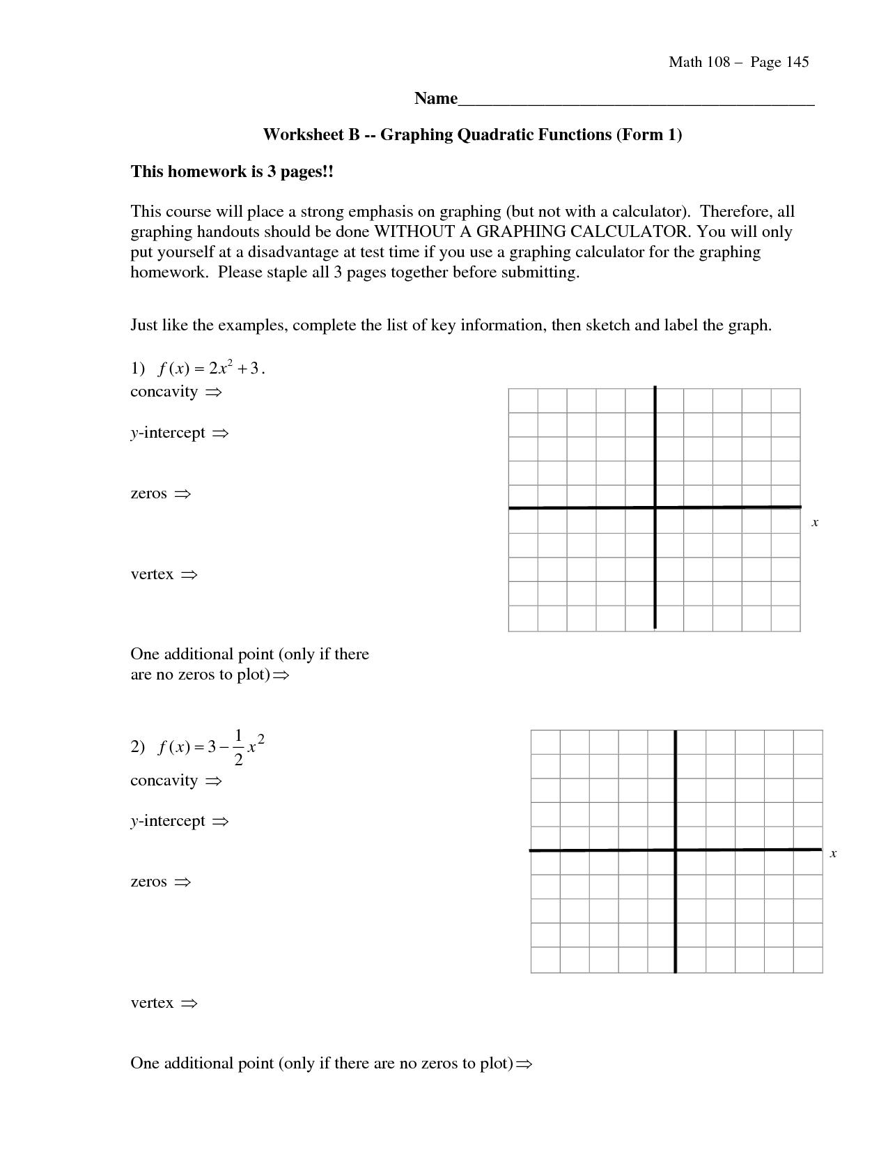 12 Best Images Of Solving Quadratic Equations Worksheet