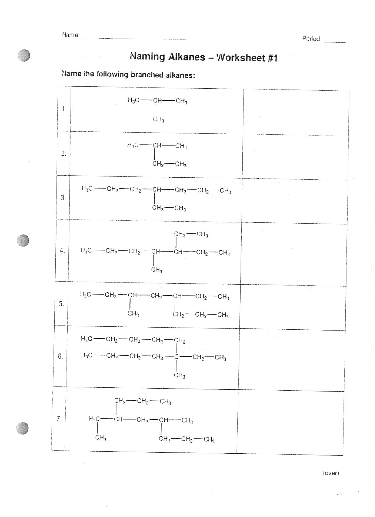16 Best Images Of Naming Organic Compounds Worksheet