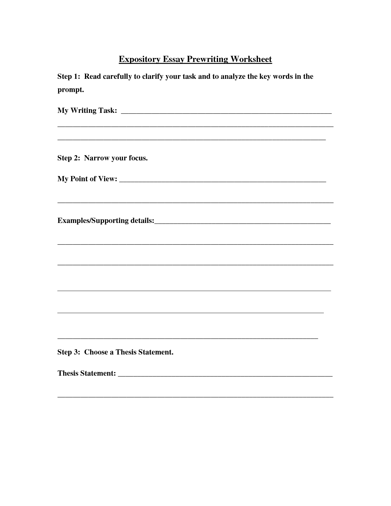 15 Best Images Of Essay Writing Worksheets