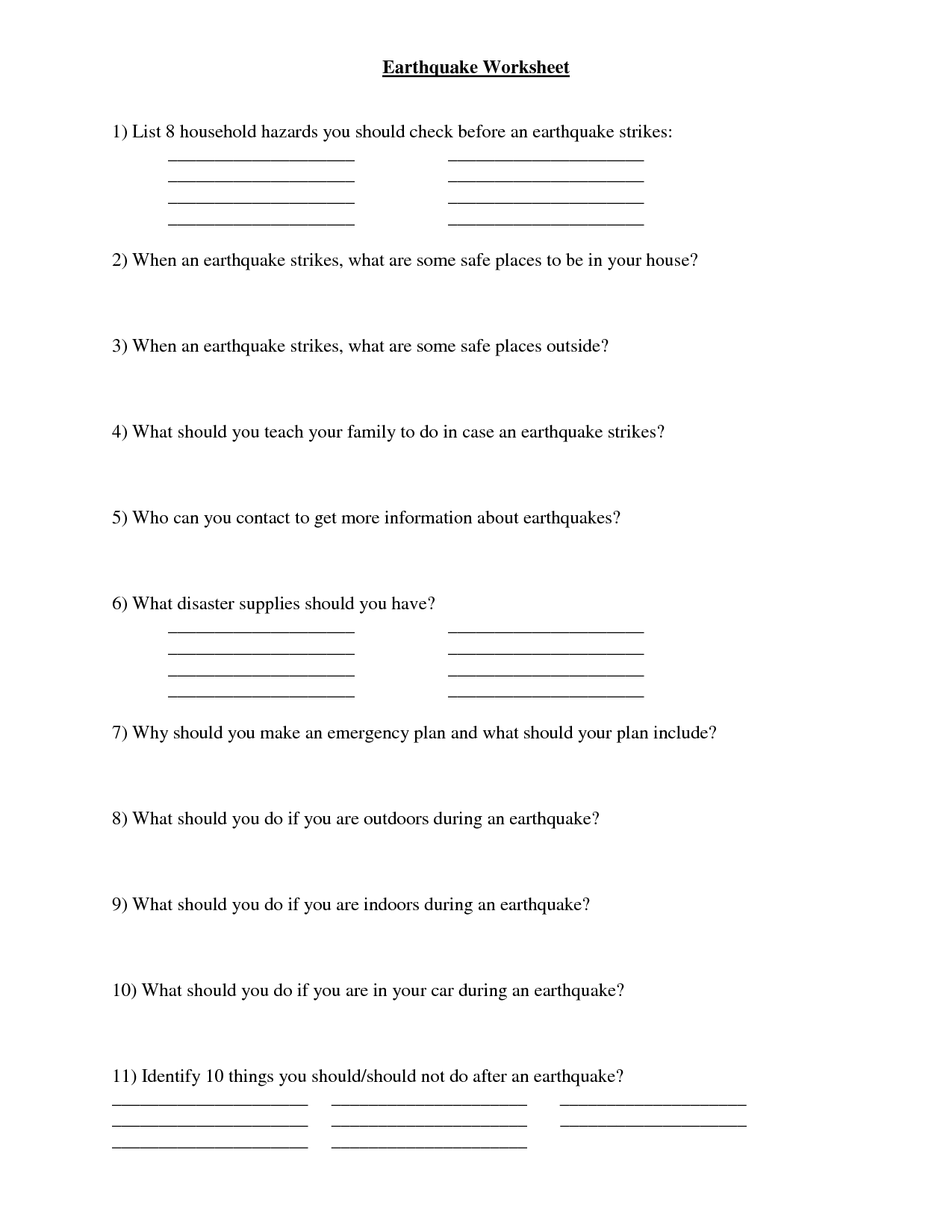 9 Best Images Of Volcano Activity Worksheet