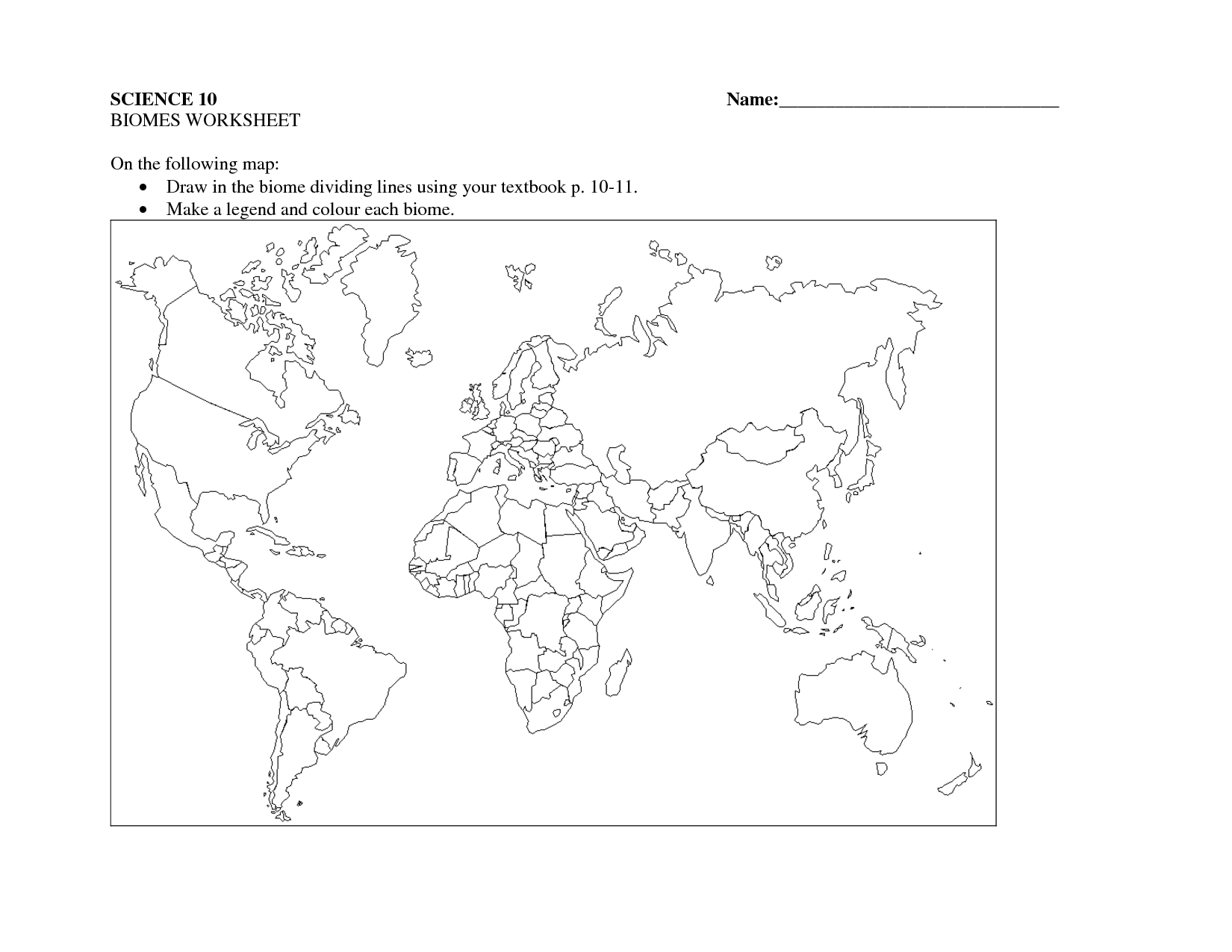 19 Best Images Of Biomes Of The World Worksheets