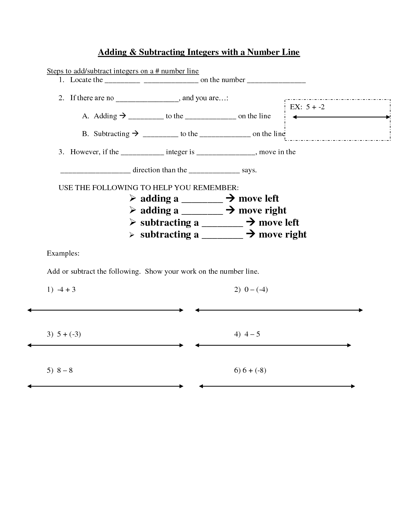 Integers Worksheet Hard