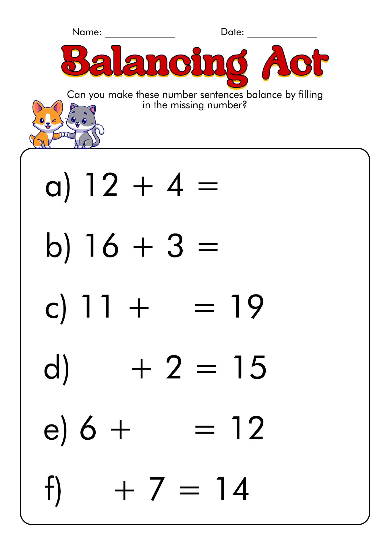 12 Best Images Of Balance Scale Equations Worksheets