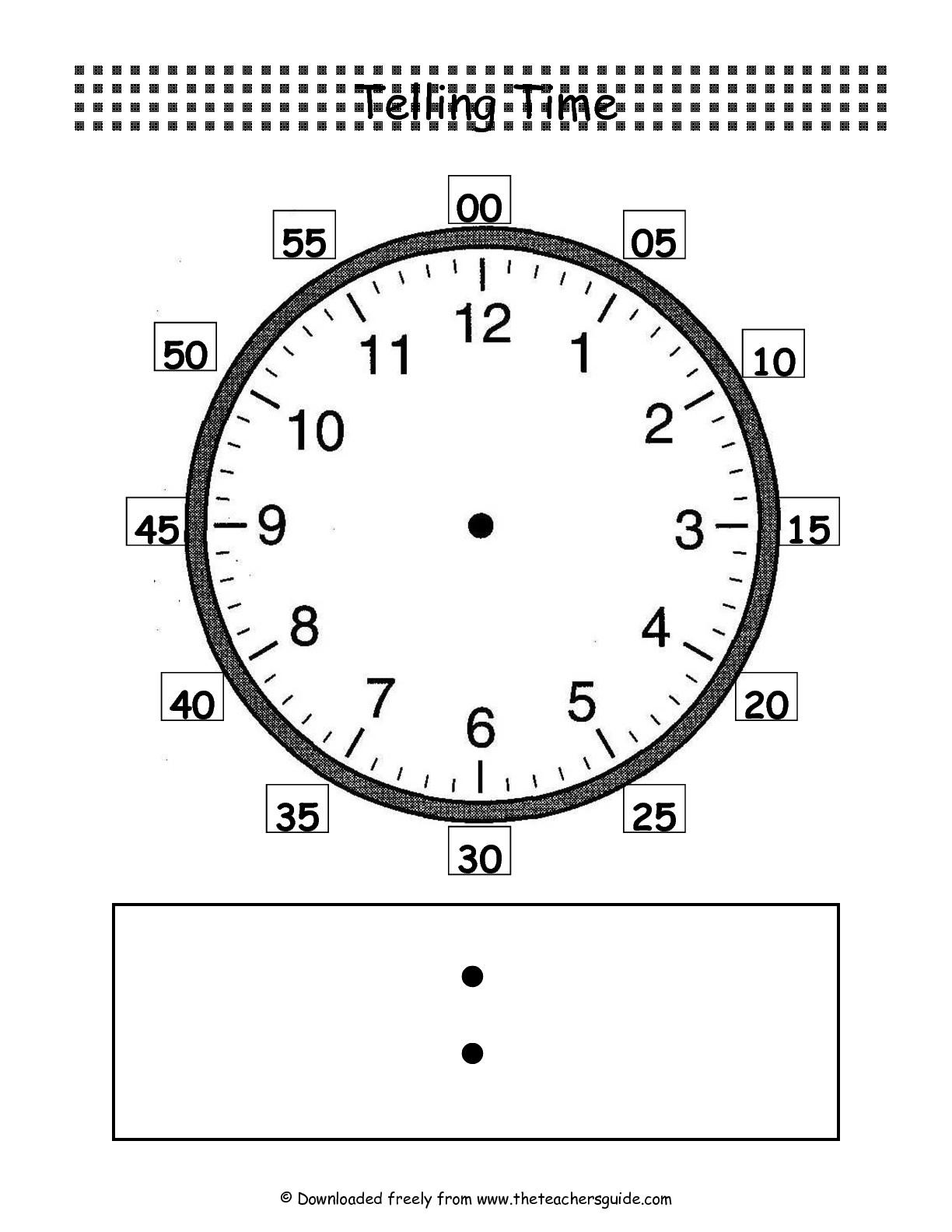 10 Best Images Of Blank Digital Clock Worksheets