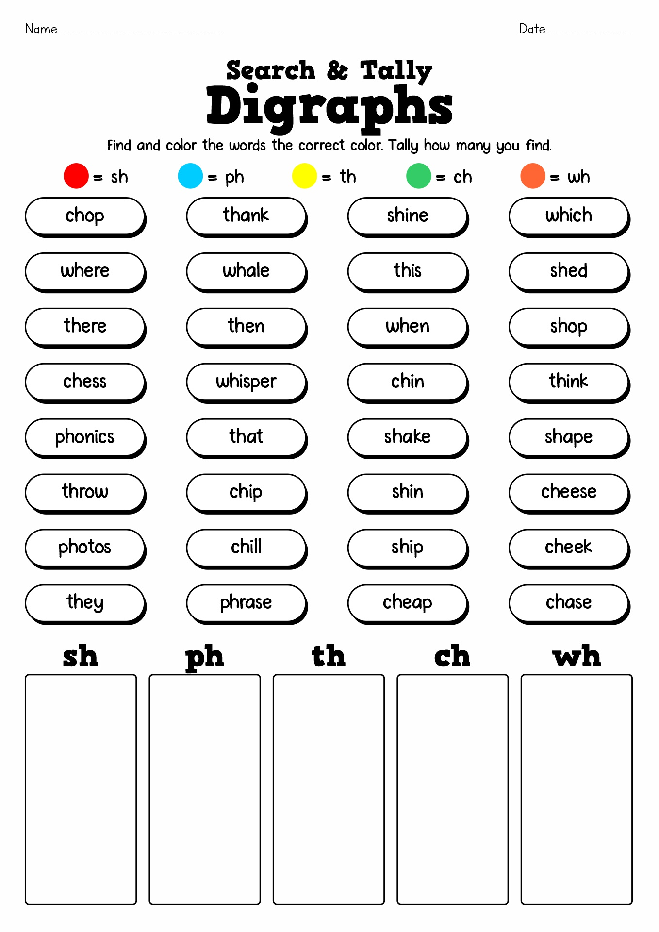 14 Best Images Of Free Printable Phonics Worksheets First