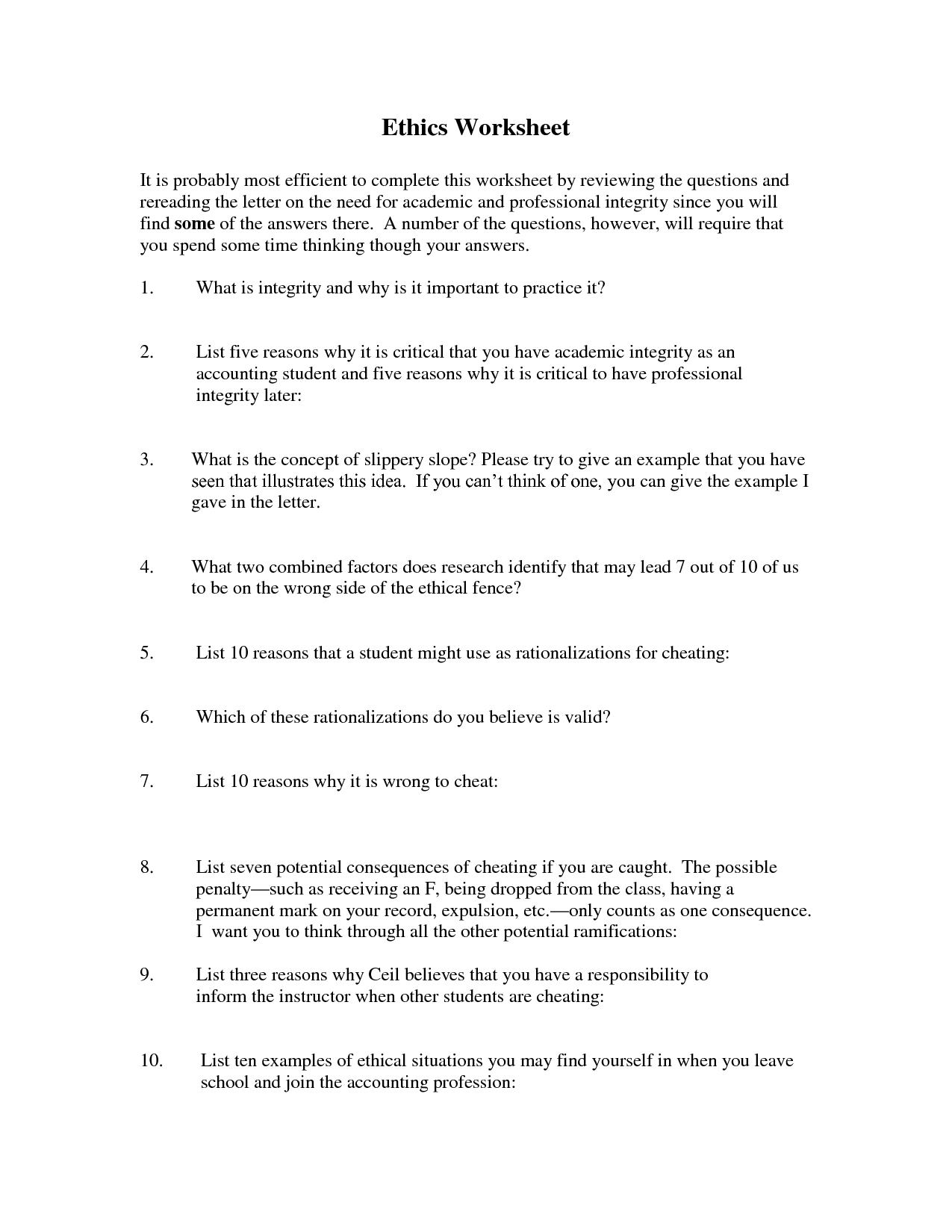 17 Best Images Of Interview Questions And Answers Worksheets