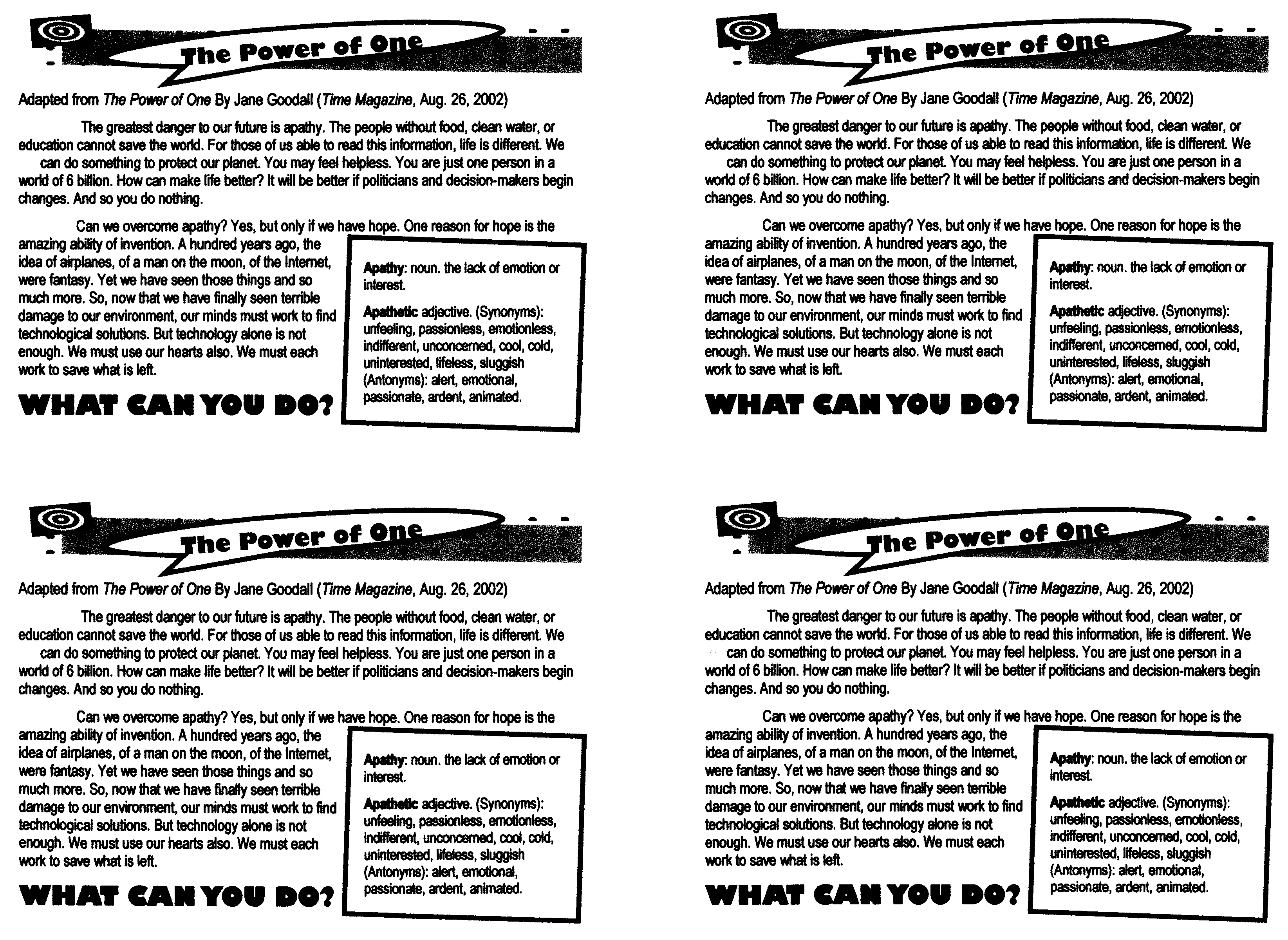 Bill Of Rights For Kids Worksheet