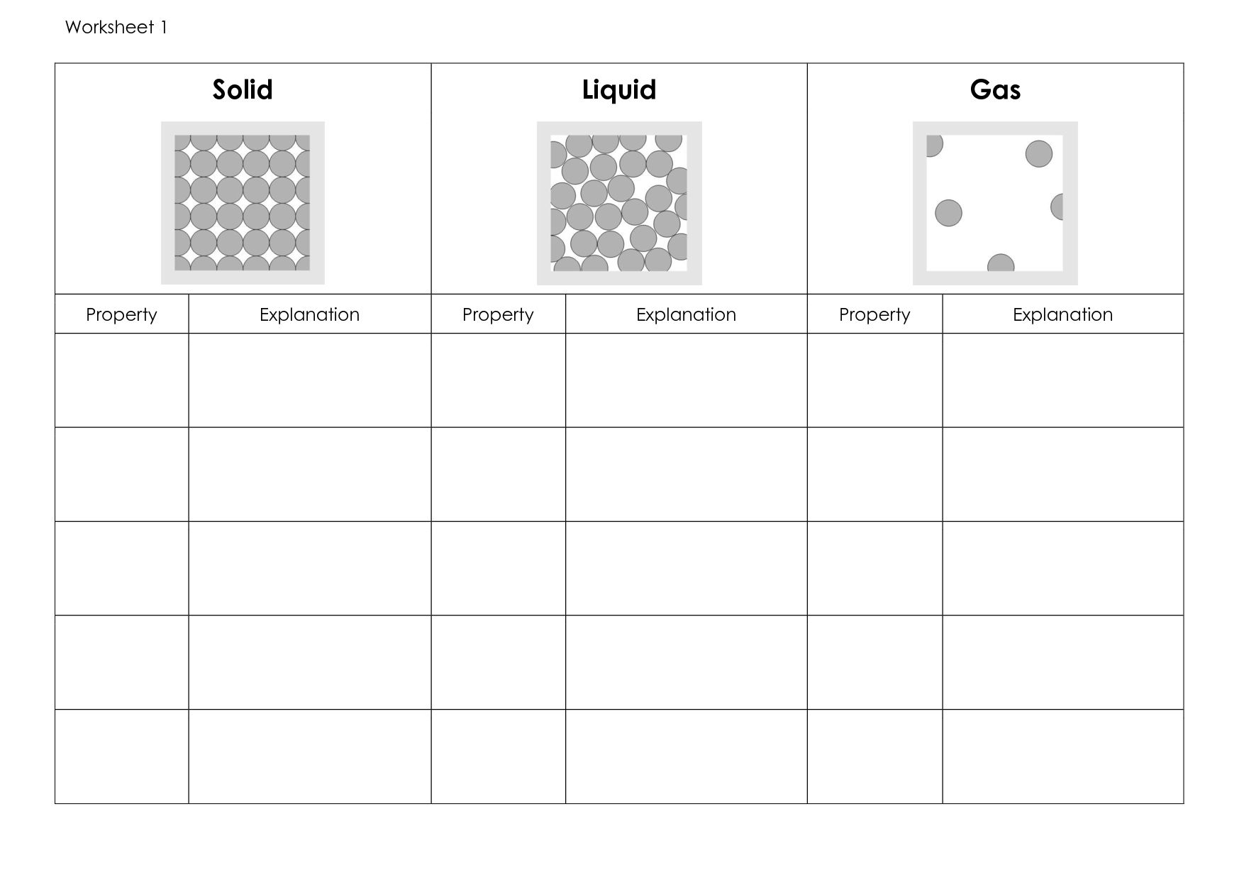 12 Best Images Of Solids Liquids And Gases Worksheets
