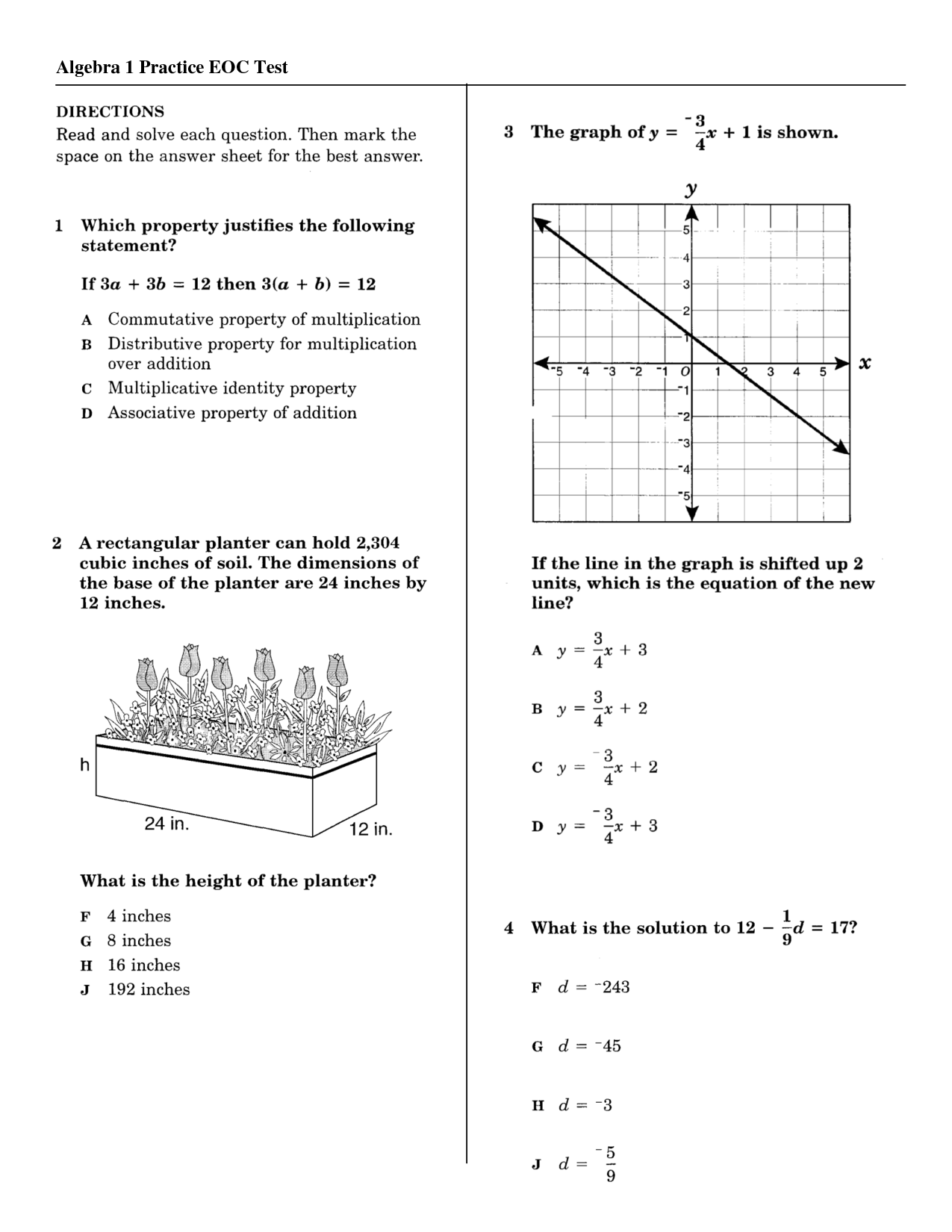 14 Best Images Of Ged Practice Math Test Worksheets
