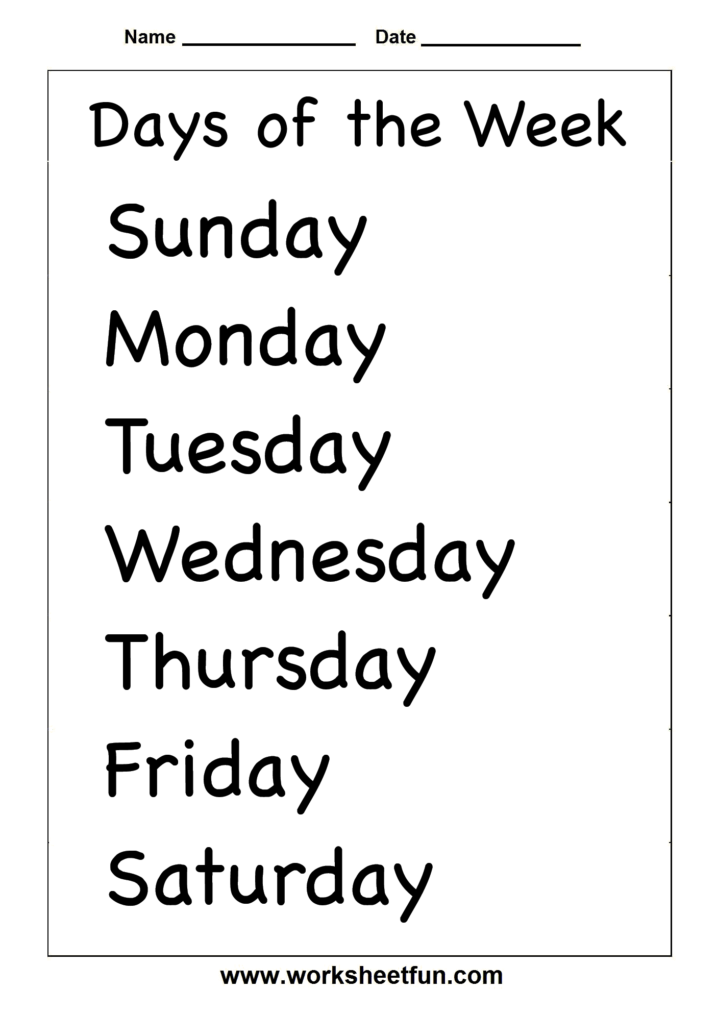 13 Best Images Of Days Weeks Months Years Worksheets