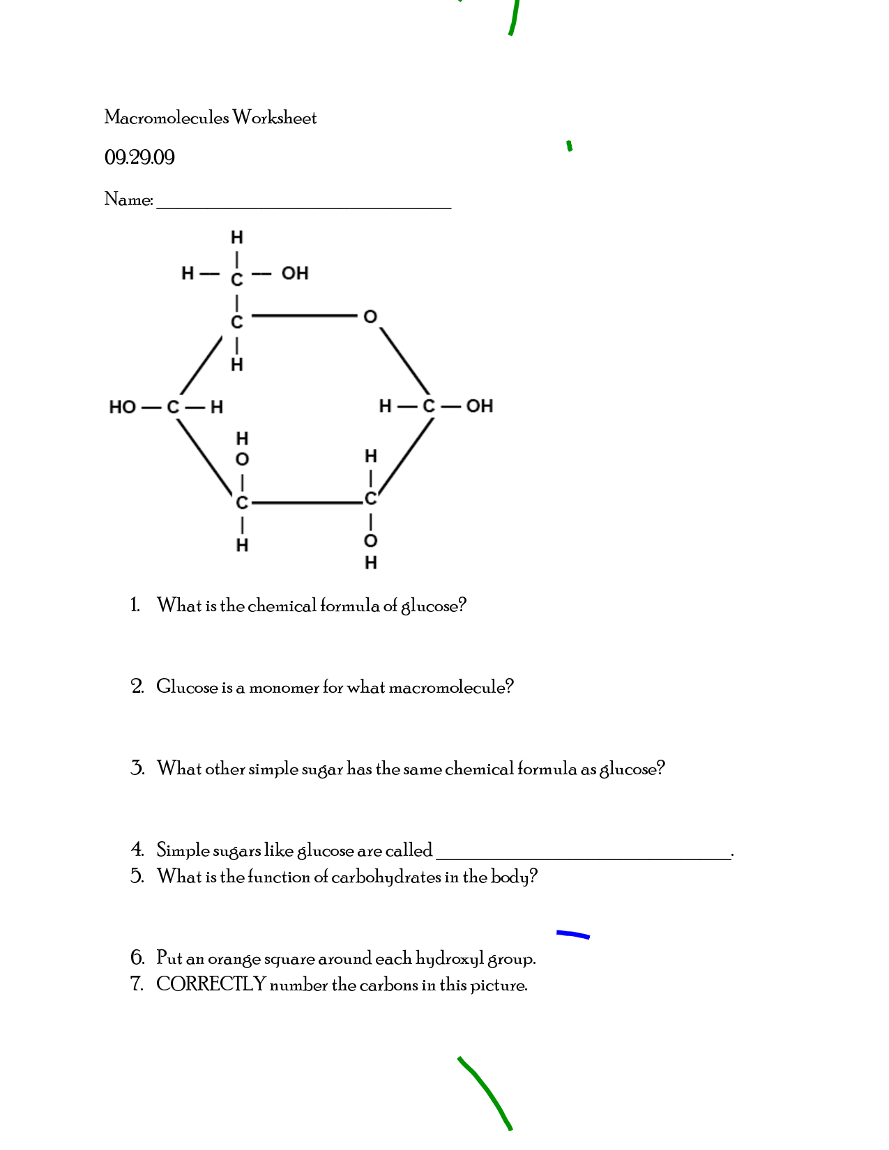 12 Best Images Of Chemistry Of Carbohydrates Worksheet