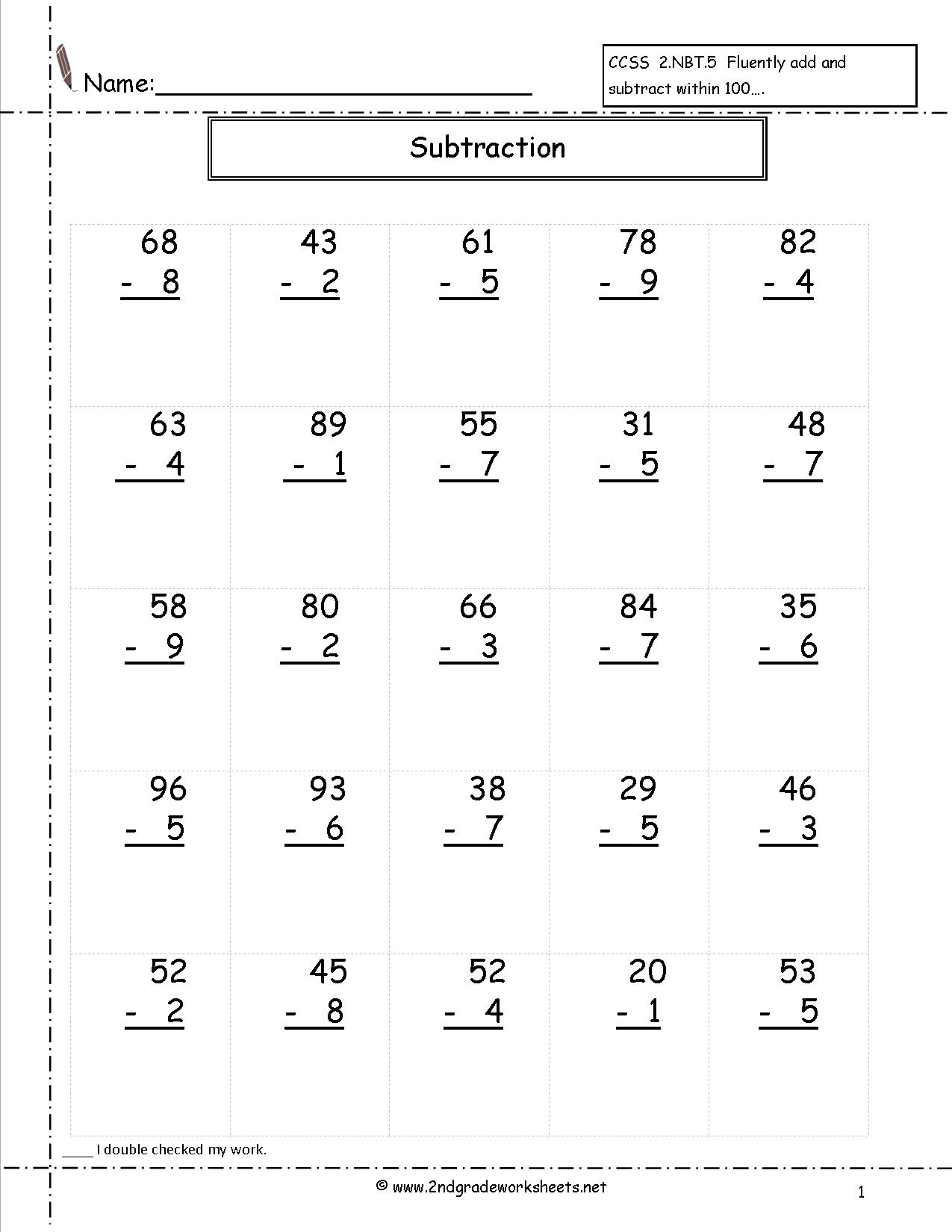 3 Digit Addition And Subtraction Without Regrouping Worksheet