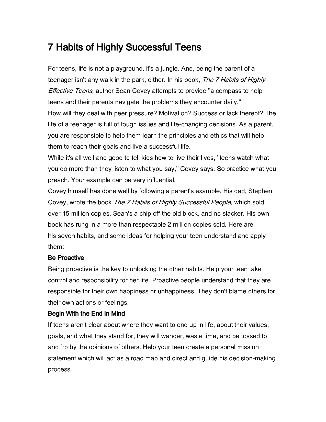 Worksheet 7 Habits Of Highly Effective Teens Worksheets Worksheet Fun Worksheet Study Site