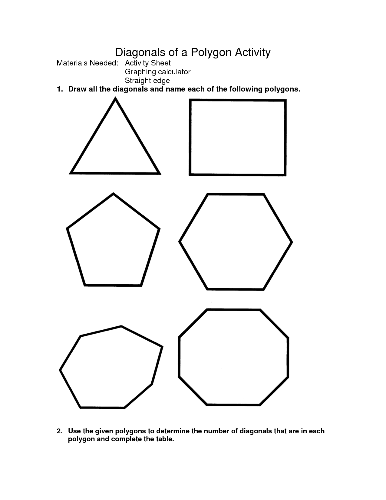 10 Best Images Of Naming Polygons Worksheets