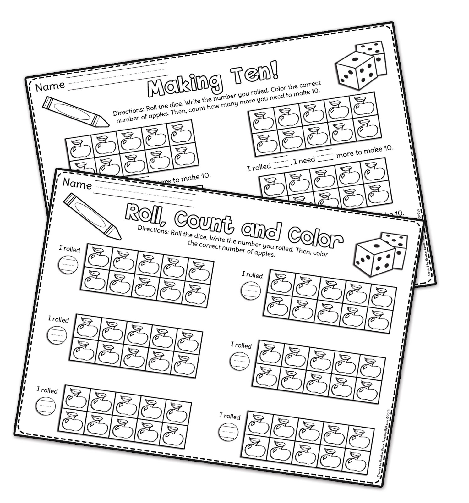 13 Best Images Of Make 10 Kindergarten Worksheet