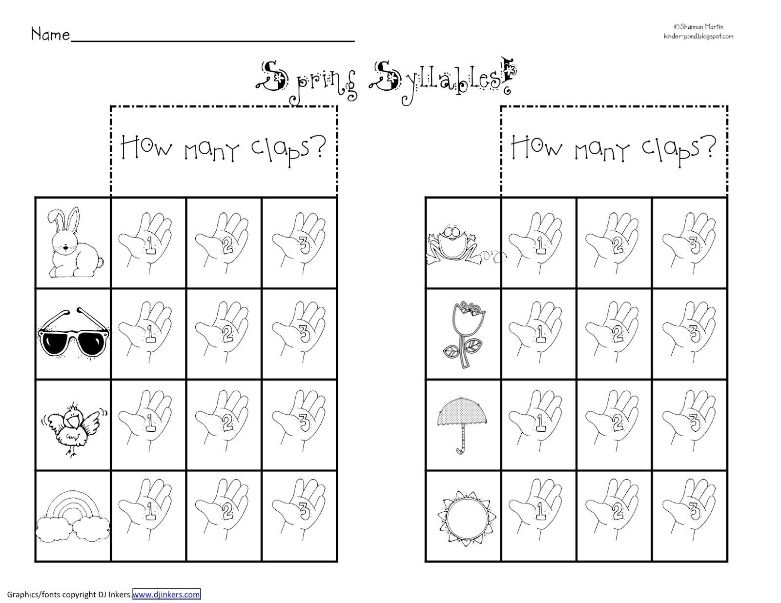 17 Best Images Of Syllable Worksheets For Kindergarten