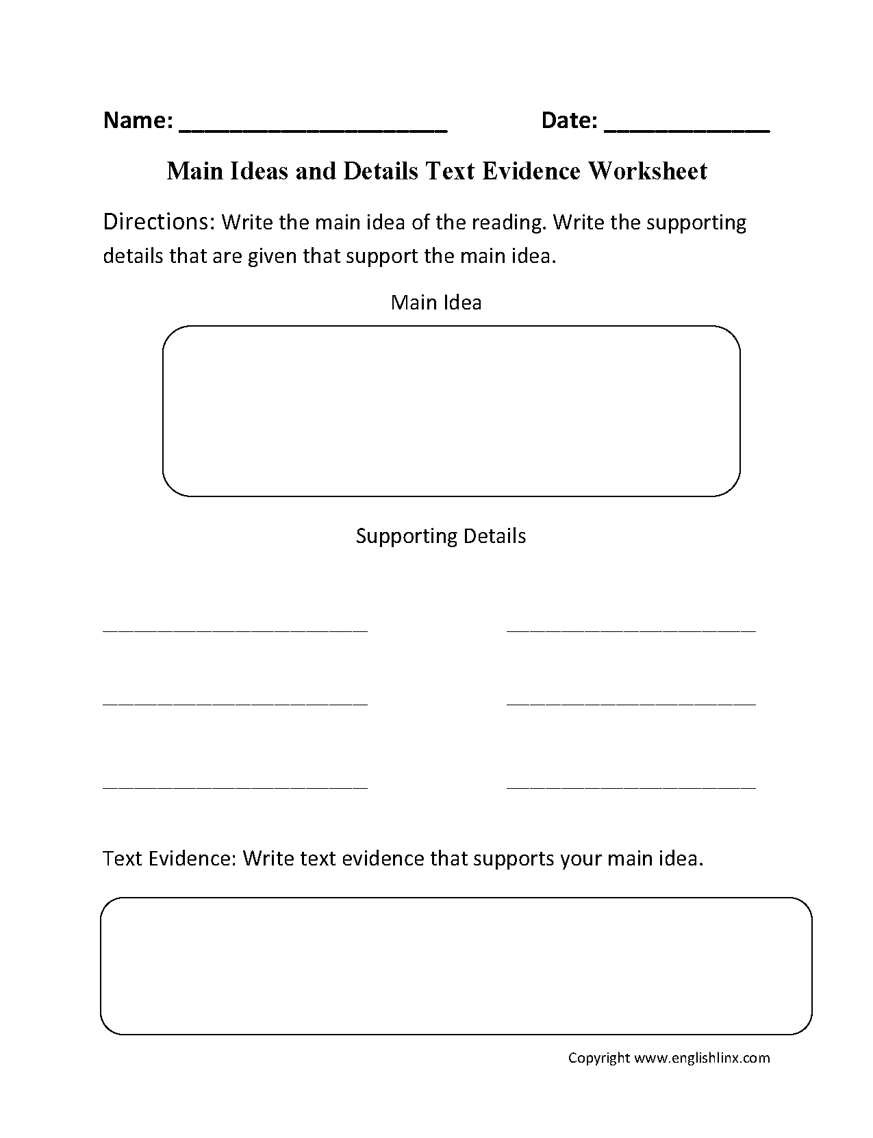 7 Best Images Of Text Evidence Worksheet