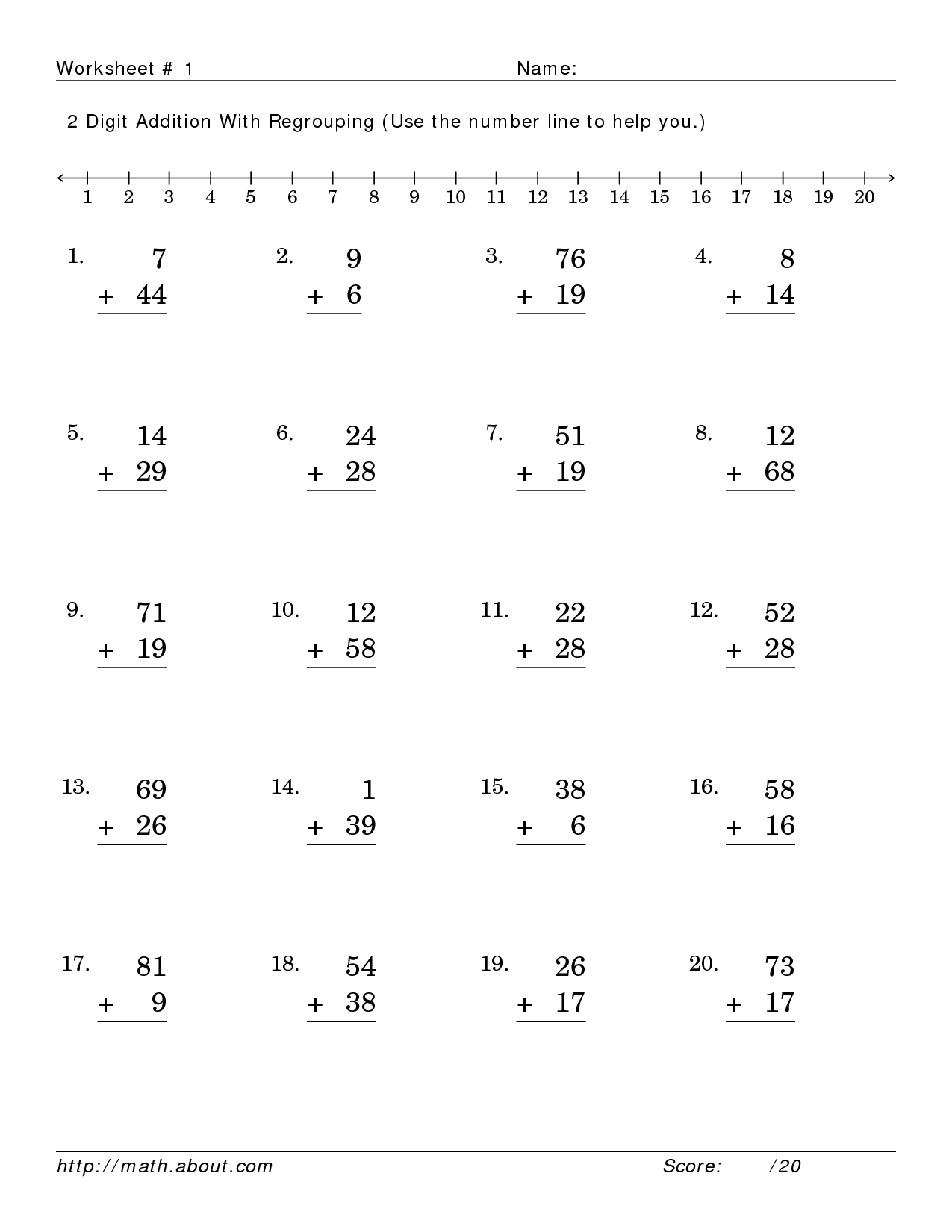 15 Best Images Of Printable Addition Worksheets With
