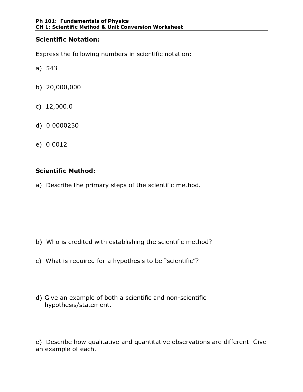 Metric Mania Length Worksheet