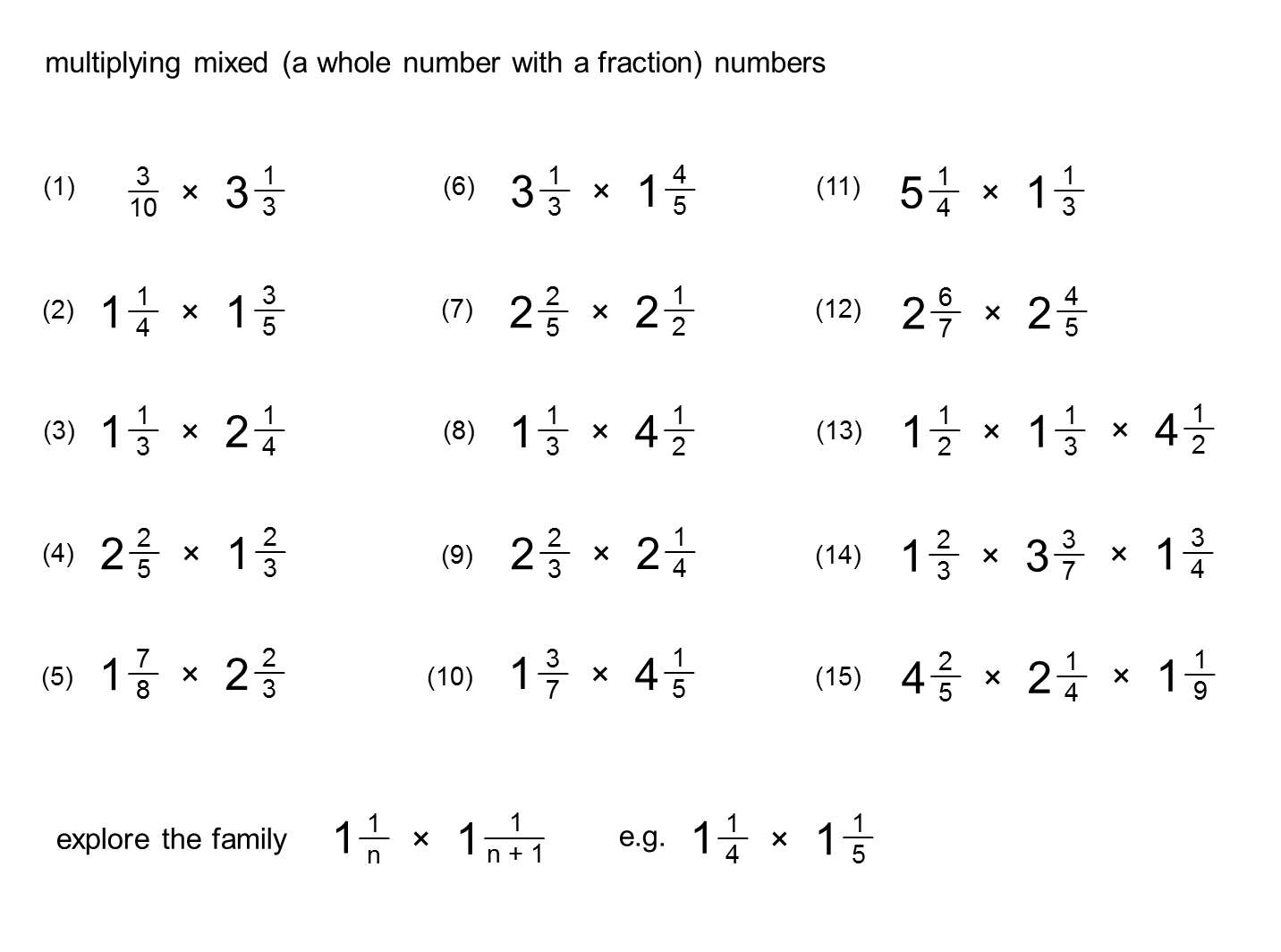 Worksheet With Multiplying And Dividing Fractions