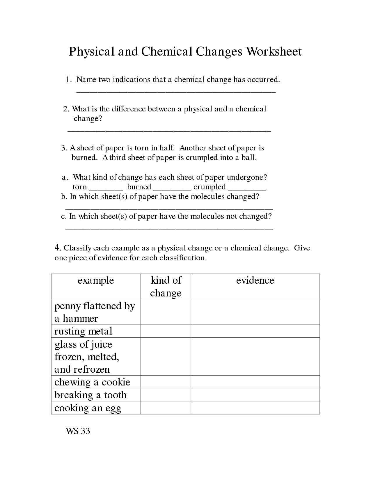 Chemical And Physical Properties Worksheet Answers 15
