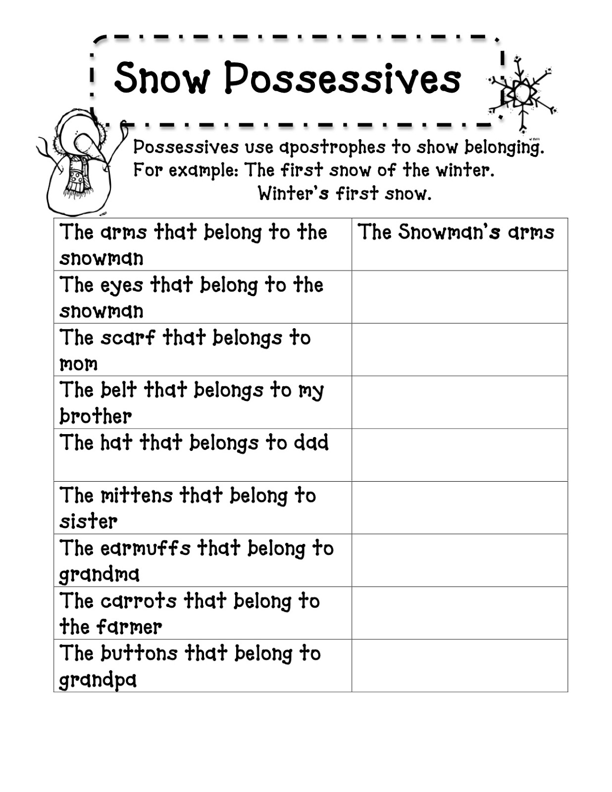 15 Best Images Of Possessives Worksheet For Grade 5