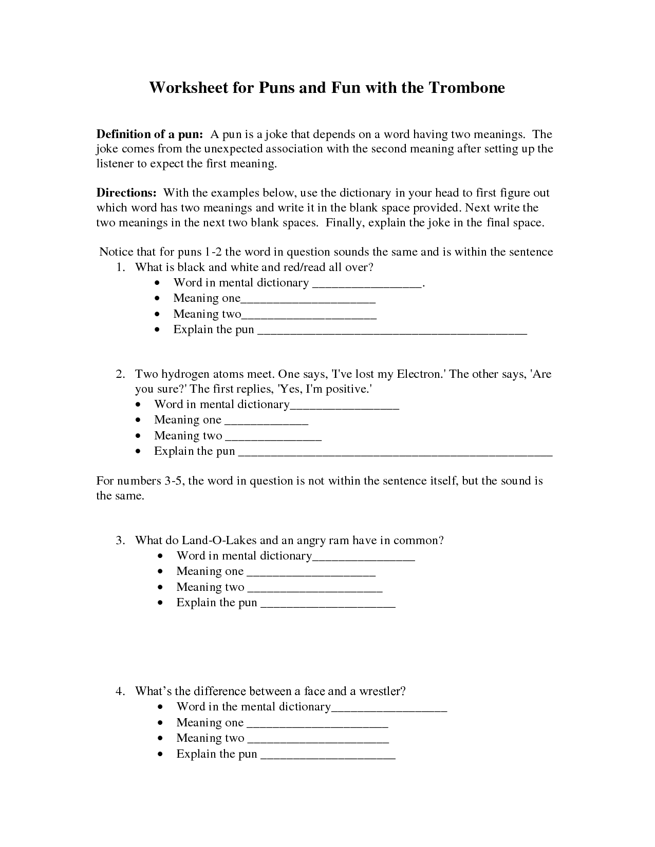 16 Best Images Of Fun With Elements Worksheets